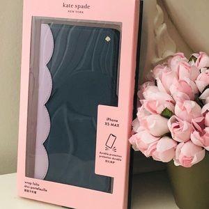 🎀 Kate Spade ♠️ Scalloped Colorblock Wrap Folio